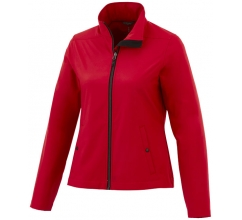 Karmine private label softshell damesjack bedrukken