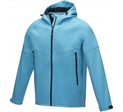 Coltan heren GRS-gerecycled softshell jack bedrukken
