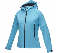 Coltan dames GRS-gerecycled softshell jack bedrukken